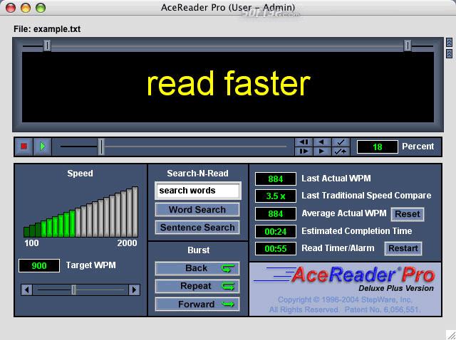 AceReader Pro Deluxe Plus (For Mac) Screenshot 2