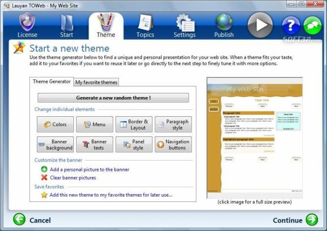 TOWeb Screenshot 2