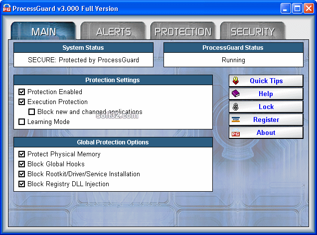 DiamondCS ProcessGuard Screenshot 1