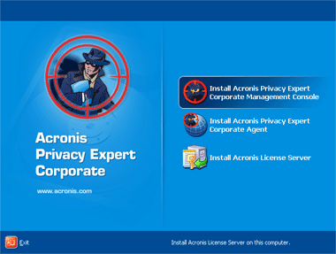 Acronis Privacy Expert Corporate Screenshot