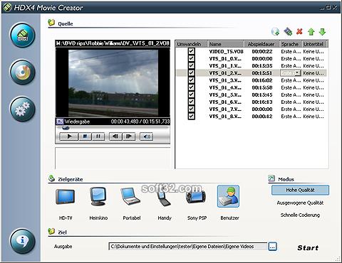 HDX4 Movie Creator Screenshot 2