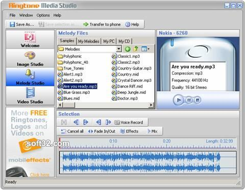 Ringtone Media Studio Screenshot