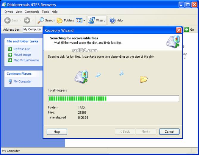 DiskInternals NTFS Recovery Screenshot 2