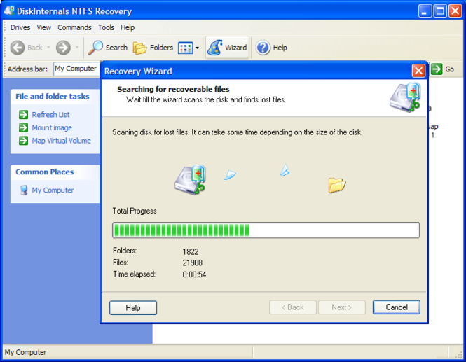 DiskInternals NTFS Recovery Screenshot