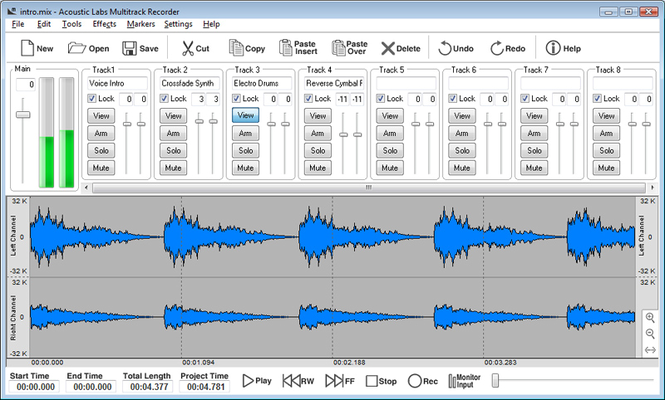 Acoustic Labs Multitrack Recorder Screenshot 1