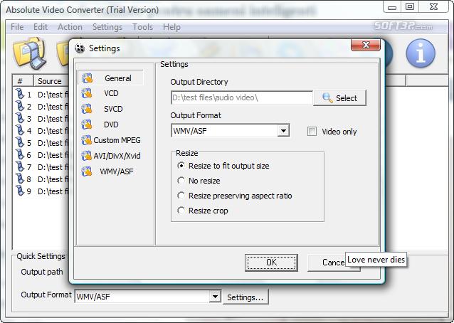 Absolute Video Converter Screenshot 6