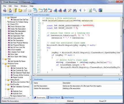 CodeWarehouse Screenshot