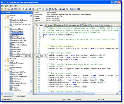 CodeWarehouse Screenshot 3