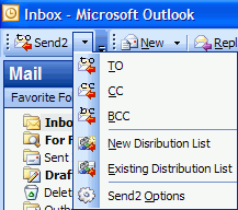 Send2 for Outlook Screenshot