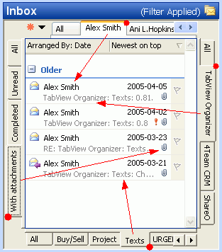 TabView Organizer Screenshot