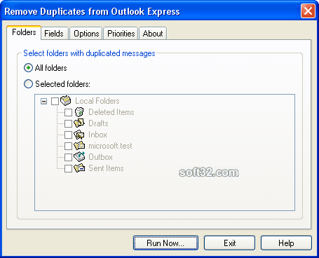 Remove Duplicates from Outlook Express Screenshot 3