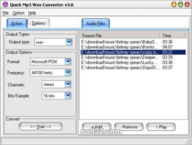Quick MP3 WAV Converter Screenshot 3
