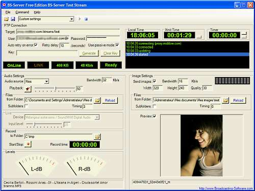 Internet Broadcasting Server - Free Ed. Screenshot 1