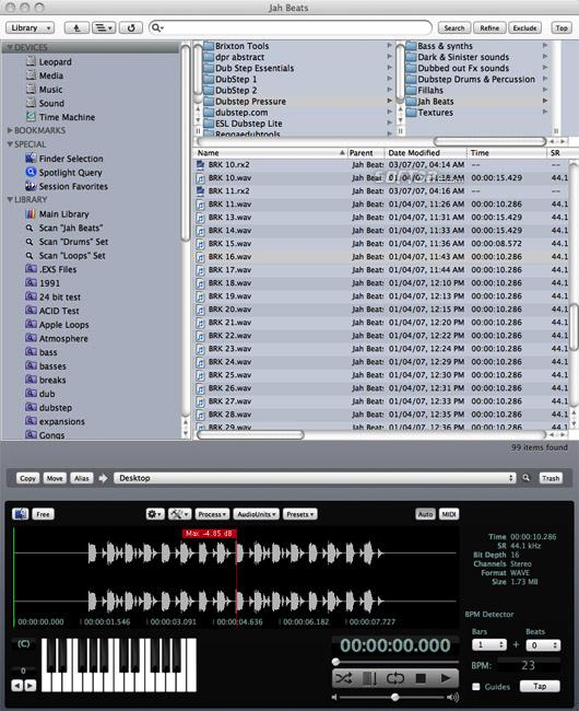 AudioFinder Screenshot 1