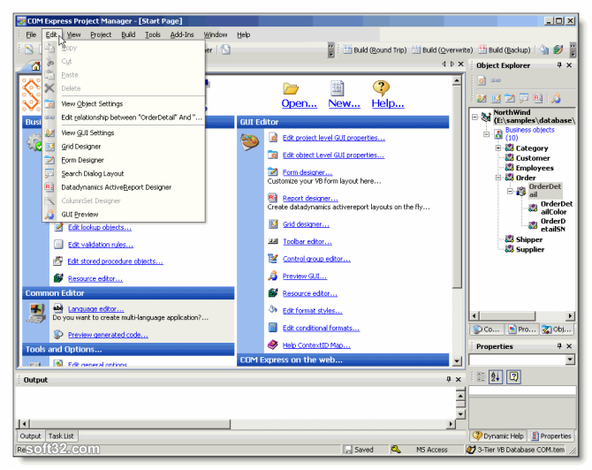 COM Express for .NET Screenshot
