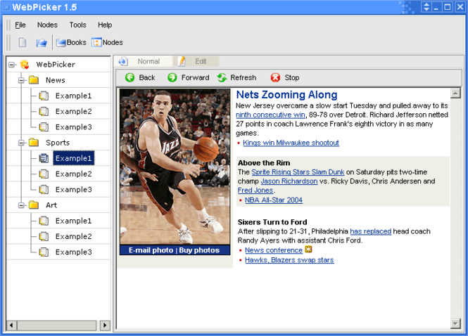 WebPicker Screenshot