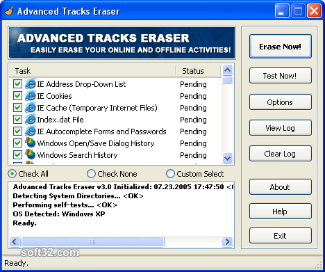 Advanced Tracks Eraser Screenshot 3