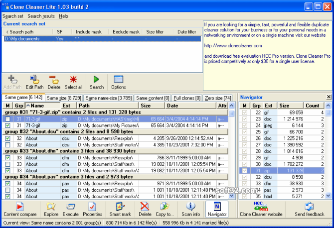Clone Cleaner Lite Screenshot 1