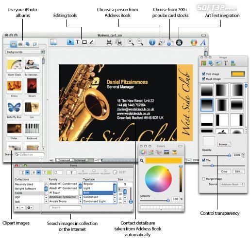 Business Card Composer Screenshot 2