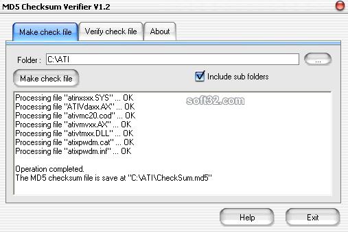 MD5 Checksum Verifier Screenshot 2