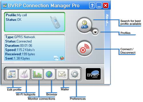 Connection Manager Lite Screenshot 1