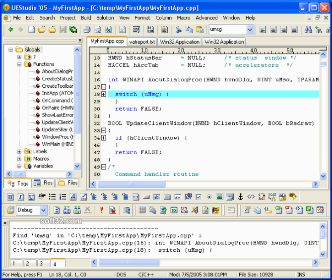 UEStudio Screenshot 1