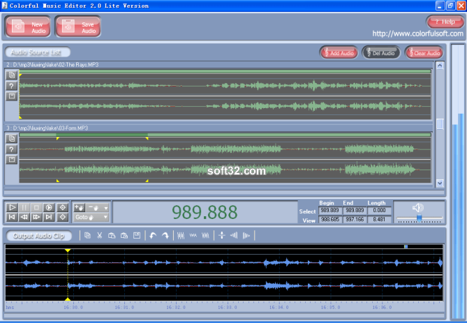 Colorful Music Editor Lite Version Screenshot 2