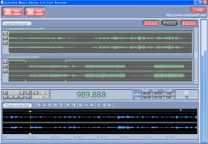 Colorful Music Editor Lite Version Screenshot 3