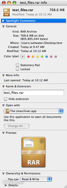 RAR for Mac OS X Screenshot 6