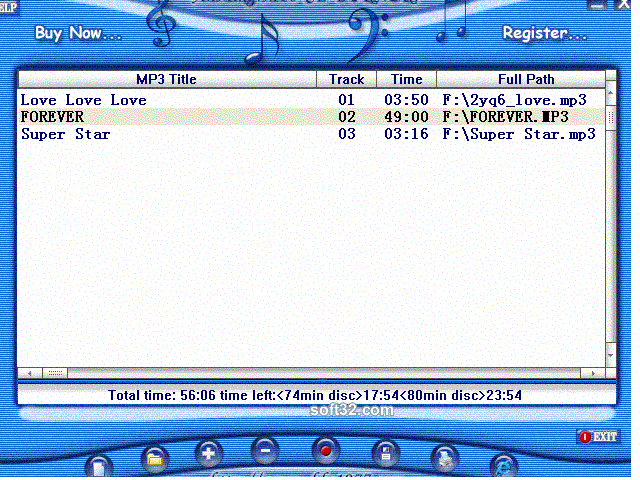 AnMing MP3 CD Burner Screenshot 2