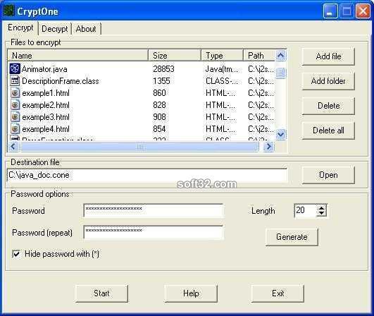 CryptOne Screenshot