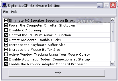 OptimizeXP Hardware Edition Screenshot 1