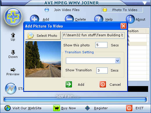 AVI MPEG WMV Joiner Screenshot 3