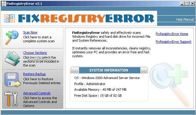 FixRegistryError Screenshot