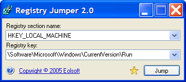 Registry Jumper Screenshot 1