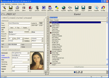 AddressBook for Windows Screenshot