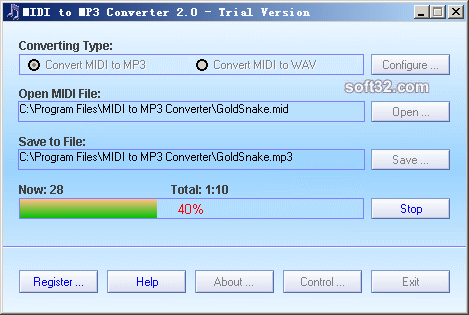 MIDI to MP3 Converter Screenshot 2