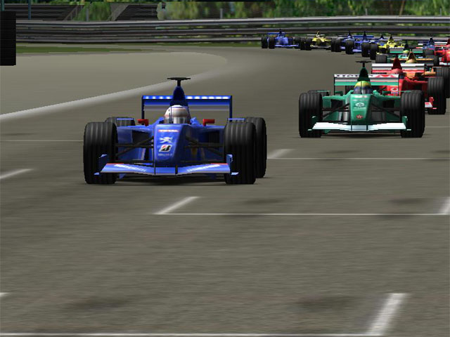 F1 Racing 3D Screensaver Screenshot 1