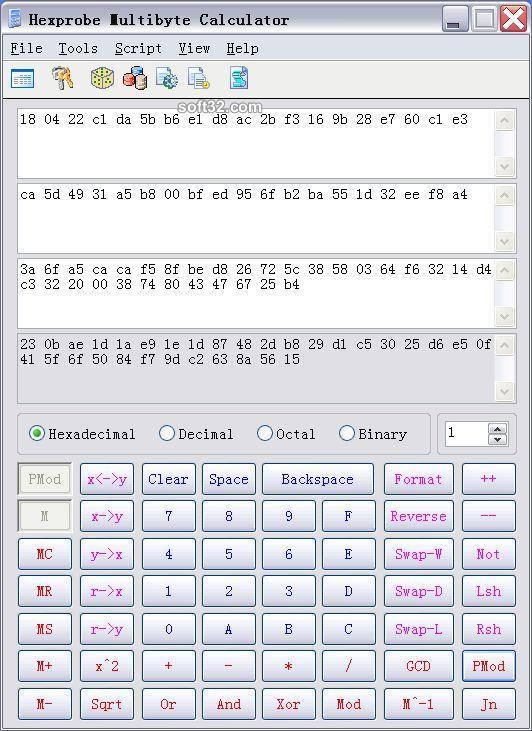 Hpmbcalc Hex Calculator Screenshot 3