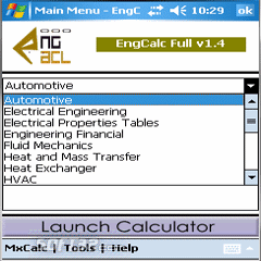 EngCalc(Hydraulic )- Palm OS Calculator Screenshot 2
