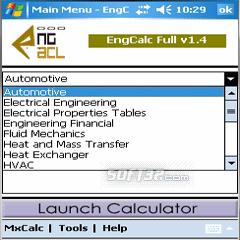 EngCalc(Structural)- PocketPC Calculator Screenshot 3