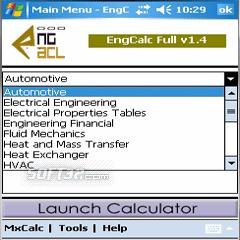 EngCalc(HVAC)- PocketPC Calculator Screenshot 3