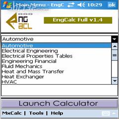 EngCalc Heat and Mass Calculator WM PPC Screenshot 2