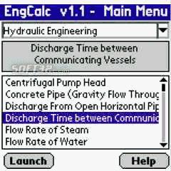 EngCalcLite(Hydraulic) - Palm Calculator Screenshot 3