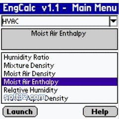 EngCalcLite(HVAC) - Palm Calculator Screenshot 3