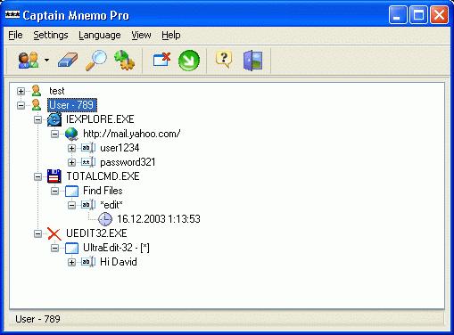 Captain Mnemo Pro Screenshot