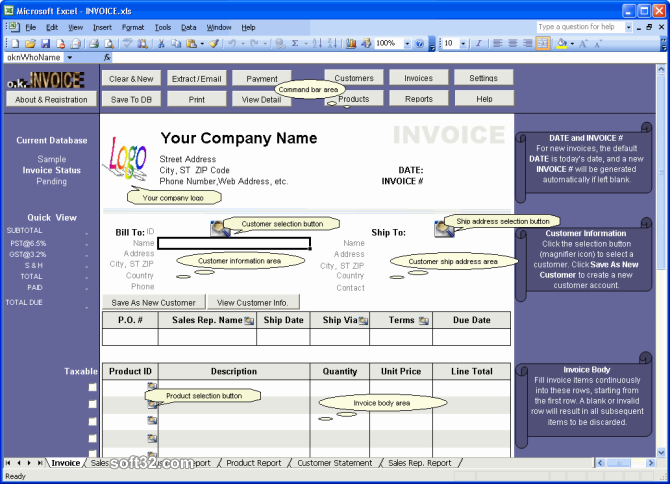 Excel Invoice Manager Enterprise Screenshot 3