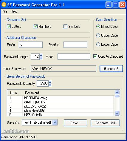 SoftFuse Password Generator Pro Screenshot 2