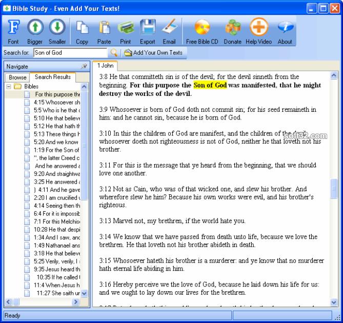 Free Bible Study - Add Any Texts Screenshot 3