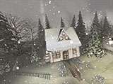 Snowy Winter 3D Screensaver Screenshot 2